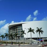Aan de American Airlines Arena