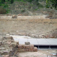 Binnen in het Romeins amfitheater