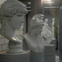 Bustes in de Antikensammlung