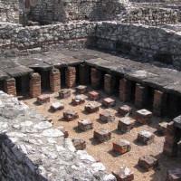 Ruïnes in het Aquincum Museum