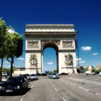 Voorkant van de Arc de Triomphe