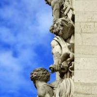 Detail van de Arc de Triomphe