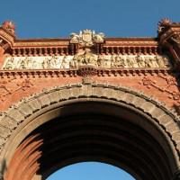 Detail van de Arc del Triomf