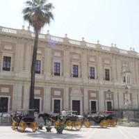 Paardenkoetsen voor het Archivo General de Indias