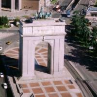 Luchtbeeld van de Arco de la Victoria