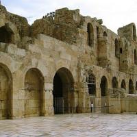 Bezoekersingang van het Theater van Herodes Atticus
