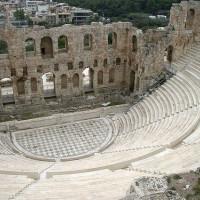 Binnenkant van het Theater van Herodes Atticus