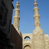 Zicht op de Bab Zuweila