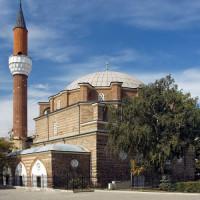 Zijaanzicht van de Banya Bashi-moskee