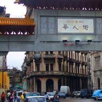 Straatbeeld in de Barrio Chino