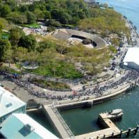 Luchtbeeld op Battery Park