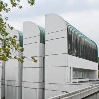 Buitenkant van het Bauhaus Archiv