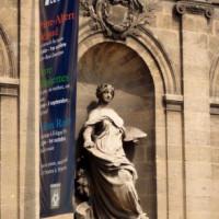 Sculptuur aan het Musée des Beaux-Arts