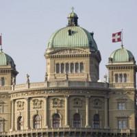 Zicht op het Bundeshaus