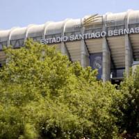 Buiten aan het Estadio Santiago Bernabeu