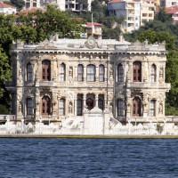 Vooraanzicht van het Beylerbeyi Paleis