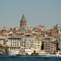 Beeld van Beyoglu en Galata