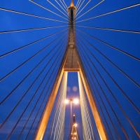 Masten van de Bhumibol brug