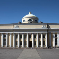 Gevel van de bibliotheek van Helsinki