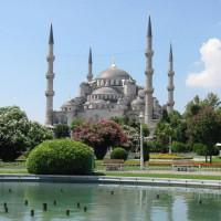 Voorkant van de Blauwe Moskee