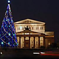 Nachtbeeld op het Bolsjojtheater