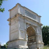 Zijaanzicht van de Boog van Titus