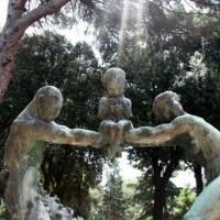 Beelden in de Tuinen van Borghese