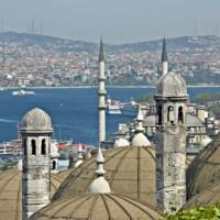 Zicht op de Bosporus