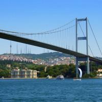 Deel van de Bosporusbrug