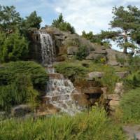 Waterval in de Botanische tuinen van Montréal