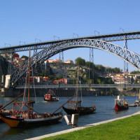 Overzicht van de Ponte D. Luís I
