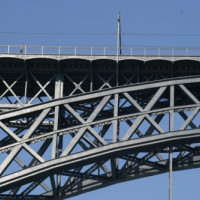 IJzeren brug in Porto