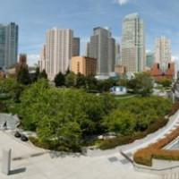 Panorama over de Yerba Buena Gardens