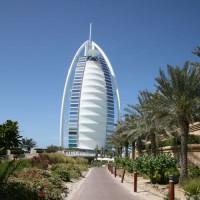 Zicht op de Burj al Arab