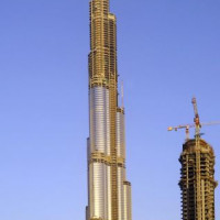 Bouwkraan bij de Burj Dubai