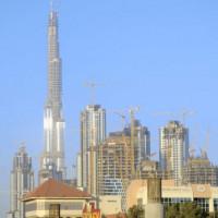 Vergezicht op de Burj Dubai
