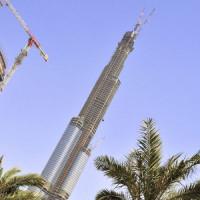 Zicht op de Burj Dubai