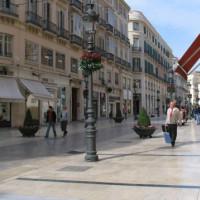 Wandelaars op de Calle Larios