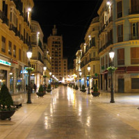Nachtbeeld op de Calle Larios