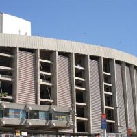Buiten aan Camp Nou