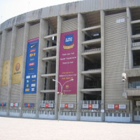Buitenkant van Camp Nou