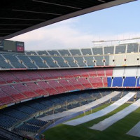 Tribunes van Camp Nou