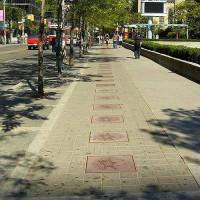 Zicht op Canada's Walk of Fame