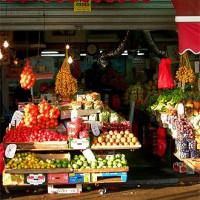 Kraam op de Carmel Markt
