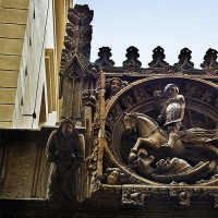 Sculptuur aan het Casa de la Canonja