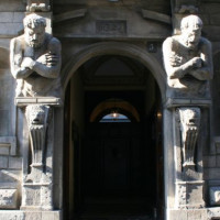 Deur van het Casa degli Omenoni