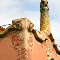 Detail van het Casa-Museu Gaudí