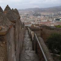 Trap naar het Castillo de Gibralfaro