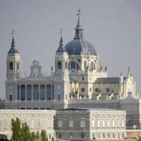 Vergezicht op de Catedral de la Almudena