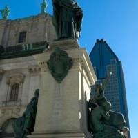 Standbeeld in Montreal